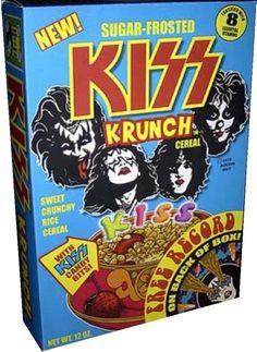 Retro Recipes, Vintage Recipes, Retro Ads, Vintage Advertisements, Kiss Merchandise, Asterix Y Obelix, Cereal Packaging, Cereal Killer, Vintage Kiss