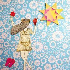 """""""Livre-se do laço Solte-se no espaço Abra os braços e o coração Sentir o sol te acordar Bem de manhã Quem acha pra comprar?"""" @marcelojeneci ☀️❤️ #bomdia #summer #irisscuccaroilustracao #bomdomingo #marcelojeneci #milfrutas"""