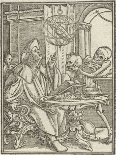 Photograph-The Dance of Death: The Astrologer; The Rich Man. Creator: Hans Holbein (German, Print made in Australia Capricorn Season, Hans Holbein, Dance Of Death, Way To Heaven, Black Death, Rich Man, 14th Century, Woodblock Print, Heritage Image