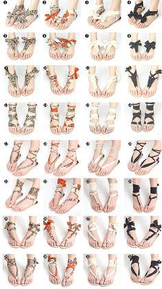 diy scarf wrap sandals