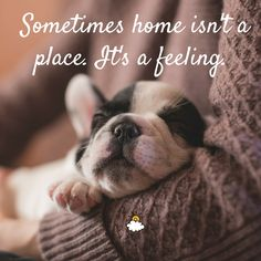 """Sometimes home isn't a place. It's a feeling."""