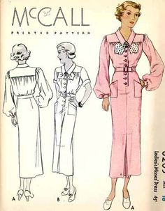 COPA Commercial Pattern Archive @ copa.apps.uri.edu  Located at the University of Rhode Island. Physically Stores Collections of Commercial Sewing Patterns with Online Listings. 1935 McCall 8203 Pattern. jwt