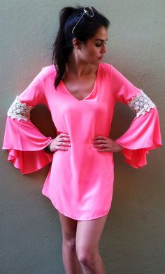60s Inspired Hot Pink Dress