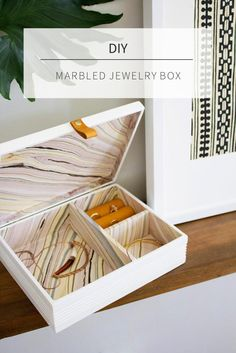 DIY RING BOX : DIY Jewelry Box from a Cigar Box