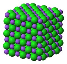 What Are Some Examples of Compounds with Ionic Bonds?: This is the three-dimensional ionic structure of sodium chloride, NaCl. Sodium chloride is also known as halite or table salt.