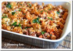 Slimming World Recipes - Slimming Eats - Part 22 Slimming World Dinners, Slimming Eats, Slimming World Recipes, Healthy Eating Recipes, Diet Recipes, Cooking Recipes, Pasta Recipes, Healthy Food, Bolognese Pasta Bake