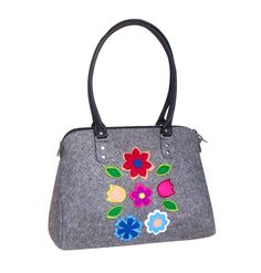 4cd2c9873ce52 SALE Women floral purse Women s messenger bag Felt tote bag Handbag for her  Eco friendly bag