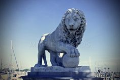 Bridge of Lions St. Augustine FL. Fine Art Photography- architecture statue-wall decor-How did we get here? by MaplePhotos on Etsy