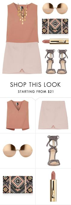 """""""Office Look"""" by kearalachelle ❤ liked on Polyvore featuring Topshop, Linda Farrow, Gianvito Rossi, New Look and John Hardy"""
