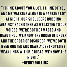HENRY ROLLINS! <3