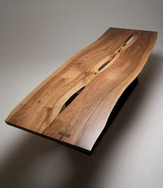 Stunning Live Edge Walnut Dining Table