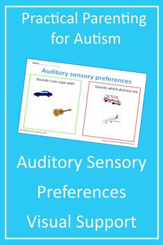 Need a Visual Support to help your child with #autism regulate their Sensory  Preferences? Download this prinatble activity today from Practical Parenting for Autism