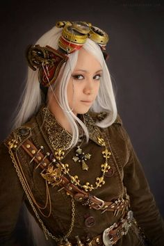 Steampunk Fashion - Feels very elfish to me.