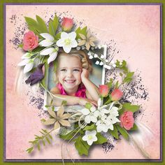 Digital Art :: Kits :: Princess and the pea kit by Designs by Brigit Princess And The Pea, Real Princess, Layout Design, Layouts, Floral Wreath, Digital Art, Scrapbooking, Shop, Floral Crown