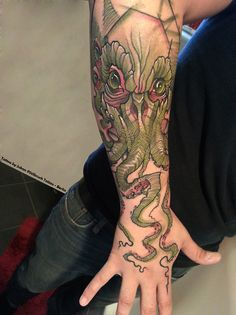 My Cthulhu Tattoo…  Done by Jukan in Stilbruch Tattoo - Berlin Germany  Tattoo was done in one session