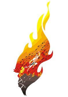 Hanuman Flee, Burnt Alengka by BongzBerry