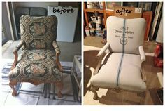 Painting fabric upholstery with Annie Sloan Chalk Paint