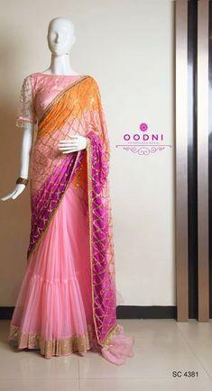 Cotton Saree Designs, Half Saree Designs, Lehenga Designs, Saree Blouse Designs, Half Saree Lehenga, Sari, Saree Look, Anarkali, Party Wear Indian Dresses