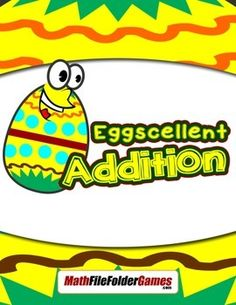 Eggscellent Addition: Basic Addition Facts From 2-12 {Math Game}Directions:Divide the class into pairs.Each pair will roll a die to see who goes first.The player with the lowest number begins.For each turn, the player rolls the dice and adds the two numbers together.The student has to find the section of his or her egg carton with that number and puts a jellybean in it.  Find free #math ideas here: https://www.teacherspayteachers.com/Store/Mathfilefoldergames/Price-Range/Free