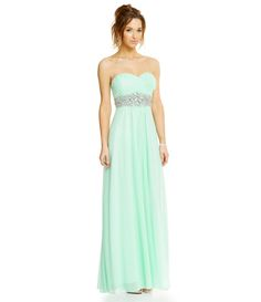 8a044844054 Sequin Hearts Ruched Wrap Bodice Strapless Gown
