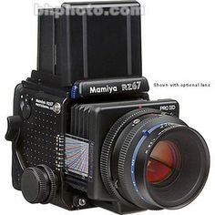 """Mamiya RZ67 Professional Pro II """"D"""" Medium Format SLR Camera Body with Folding Waist Level Viewfinder 2,300$ 