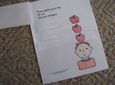 CUTE emergent reader to go with the book Ten Apples Up on Top from Making Learning Fun.