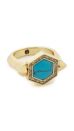 House of Harlow 1960 Hexes Flip Ring