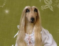 soraya dolls | KIRA ooak Afghan Hound dog Lady 1:1 2 doll by Soraya Merino ...