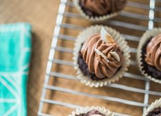 Dairy-free, egg-free, vegan cupcakes with asuperfood boost thanks to organic maca and raw cacao powder -- the perfect combo of chocolatey goodness! Dairy Free, Gluten Free, Raw Cacao Powder, Vegan Cupcakes, Sprout Recipes, Egg Free, Vegan Chocolate, Superfood, Sprouts