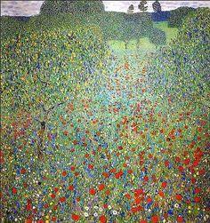 Klimt, Gustave (1862-1918) - 1907 Poppy Field