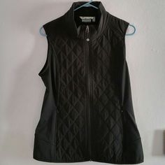 Athleta Upside Vest Beautiful, supple vest with quilted panels and a little stretch. Breathable, wicking, water repellent with inner and outer side pockets. 86% polyester, 14% spandex. Side panels 88% supplex nylon, 12% lycra. Filler 65% polypropylene, 35% polyester. New, never worn. Athleta Jackets & Coats Vests