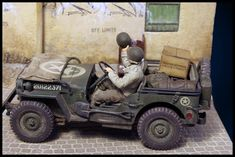 1/35 scale model jeep with laser cut wine crate Scale Models, Crates, Studios, Monster Trucks, Miniatures, Military, War, History, Dioramas