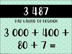 La classe de Karine: Nouveautés pour la 4e année -Mathématique Number Sense, Appris, Positivity, Teacher, School, Posters, Professor