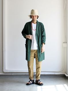 ohh! nisica ローブシャツ -LINEN Japan Fashion, Love Fashion, Mens Fashion, Fashion Outfits, Fashion Design, Casual Asian Fashion, Engineered Garments, Japanese Men, Japanese Street Fashion