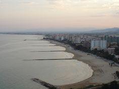 Vistas de la playa de Benicàssim desde el antiguo Termalismo
