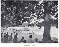 LONDON 1935 HYDE PARK LIDO Swimming Old Vintage Art Print
