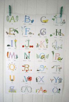 Bokstavsplansch Majas ABC, kids alphabet