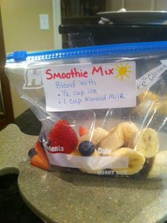 Make-Ahead Breakfast Ideas - especially the make-ahead parfaits (*try topping parfaits w. other cereals, not just granola) & the smoothie packs