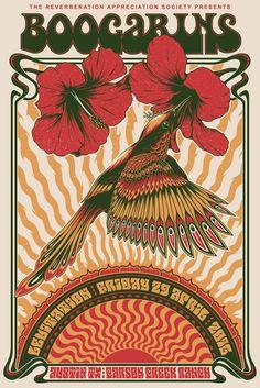 Simon Berndt's gig posters invoke psychedelic rock-era art Hippie Posters, Rock Posters, Retro Posters, Psychedelic Rock, Psychedelic Posters, Art Hippie, 60s Art, Kunst Poster, Festival Posters