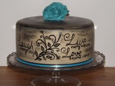 Gorgeous painted cake