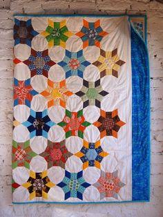 krabbeldecke quilt frankfurt baby taufe geschenk patchwork modern design unikat name