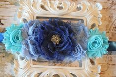 Baby Boy Blue Maternity Sash Belly Photo by SparklesButterflies