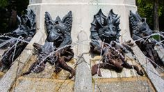 Small devils in the Angel Caido #fountain in #Madrid