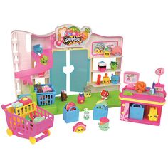 Shopkins Supermarket Playset Shopkins are the super cute, fun, small characters that live in a BIG shopping world! Shop till you drop and build your Shopkins All Toys, Toys R Us, Kids Toys, Toddler Toys, Shopping Games, Girls Shopping, Shopping Mall, Lego Friends, Shopkins Small Mart