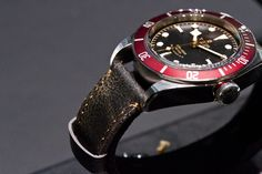 Tudor Black Bay. These vintage leather straps make the Rolex look palatable. (I am normally not a fan.)