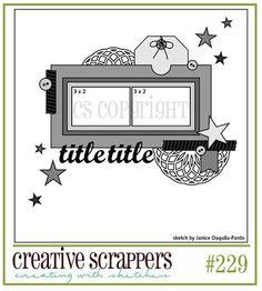 Creative Scrappers sketch