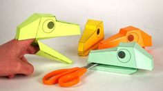 Picture of Dino head finger puppet! - make Dino Head Finger puppets for the kids