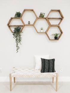 Hexagon Shelves Honeycomb Shelf Floating Hexagon Shelf | Etsy