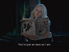 1 September Harry Potter meets Luna Lovegood for the first time. Harry Potter Part 2, Harry Potter Severus Snape, Harry Potter Facts, Harry Potter Fandom, Harry Potter World, Hermione Granger, Draco Malfoy, Saga, Gifs