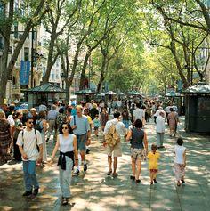 La Rambla, Barcelona  Photo by J. Trullàs  © Turisme de Barcelona.  Travel to Barcelona with Friendly Planet's Breathtaking Barcelona Tour